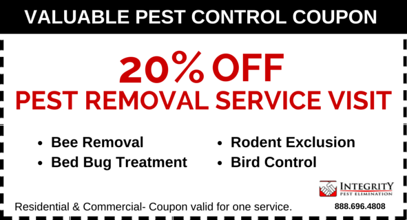 Integrity Pest Elimination - 20 perc Off Coupon LG