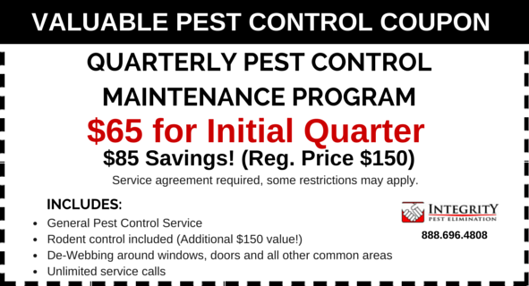 Integrity Pest Elimination - Quarterly Coupon LG